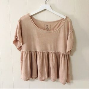 We the Free dusty pink peplum top (XS)